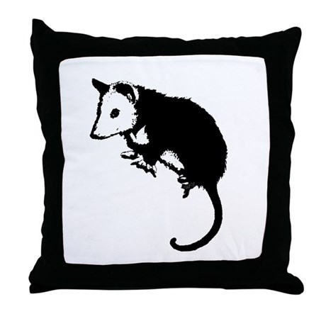 Possum Silhouette Throw Pillow
