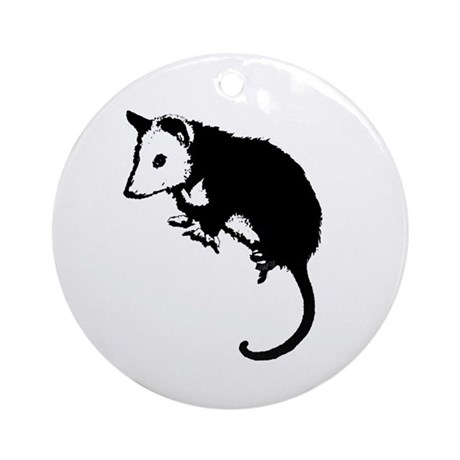 Possum Silhouette Ornament (Round)