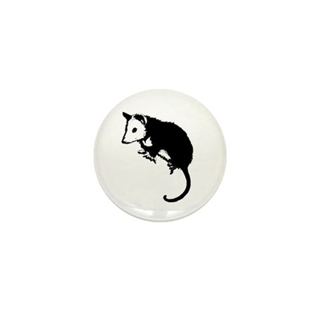 Possum Silhouette Mini Button (10 pack)