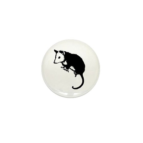 Possum Silhouette Mini Button