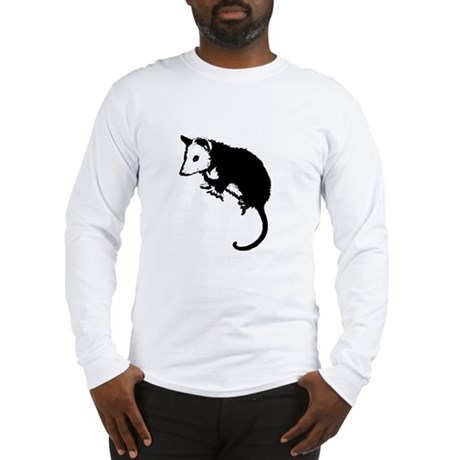 Possum Silhouette Long Sleeve T-Shirt