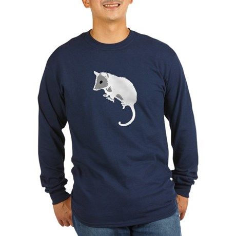 Possum Silhouette Long Sleeve Dark T-Shirt