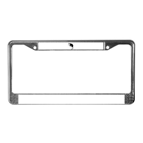 Possum Silhouette License Plate Frame