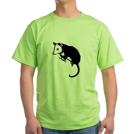 Possum Silhouette Green T-Shirt