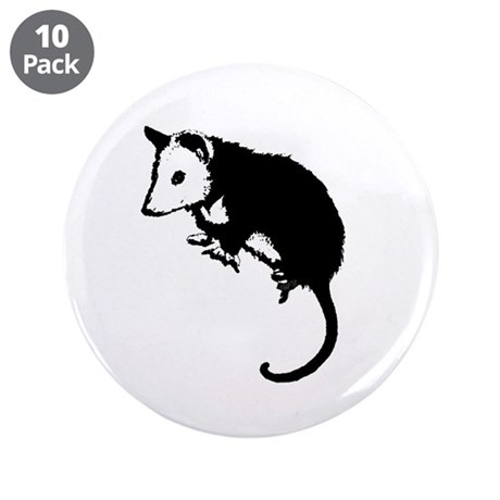 "Possum Silhouette 3.5"" Button (10 pack)"