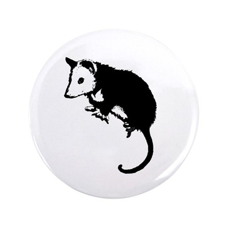 "Possum Silhouette 3.5"" Button"