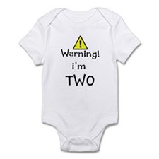 WARNING I'M TWO Infant Bodysuit