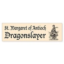 St. Margaret Dragonslayer Lig Bumper Bumper Sticker