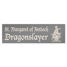 St. Margaret Dragonslayer Dark Bumper Bumper Sticker