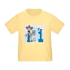 Stick Cowboy First Birthday T