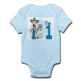 Stick Cowboy First Birthday Infant Bodysuit