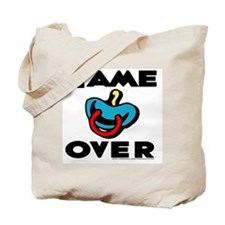 Game Over (pacifier) Tote Bag