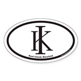 Kent Island KI Euro Oval Decal