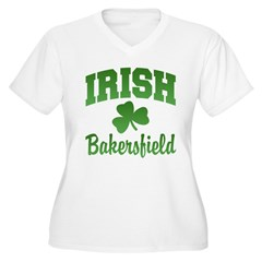 Bakersfield Irish Women's Plus Size V-Neck T-Shirt