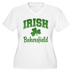 Bakersfield Irish Women's Plus Size V-Neck T-Shirt