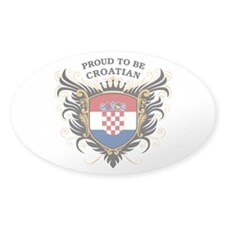 Proud to be Croatian Oval Decal