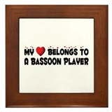 Belongs To A Bassoon Player Framed Tile