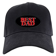 Best Dad Black Baseball Cap