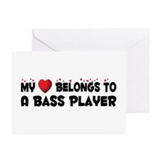 Belongs To A Bass Player Greeting Cards (Pk of 20)