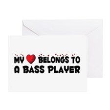 Belongs To A Bass Player Greeting Card