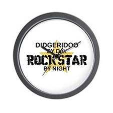 Didgeridoo Player Rock Star Wall Clock