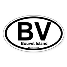 BV Bouvet Island Oval Decal