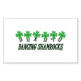 DANCING SHAMROCKS Rectangle Decal