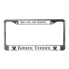 Border Terrier Boss Dog License Plate Frame