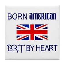 Born American, British by Hea Tile Coaster