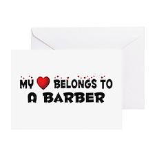 Belongs To A Barber Greeting Card