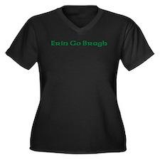 Funny St.patrick's day Women's Plus Size V-Neck Dark T-Shirt