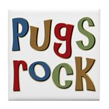 Pugs Rock Tile Coaster