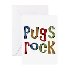 Pugs Rock Greeting Card