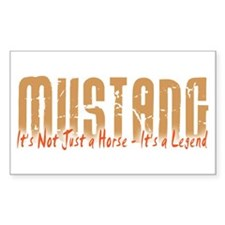 Mustang Horse Rectangle Decal