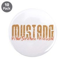 "Mustang Horse 3.5"" Button (10 pack)"