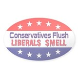Liberals Smell Oval Decal