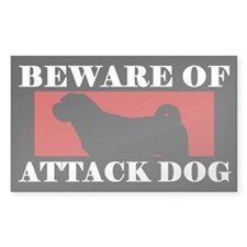 Beware of Attack Dog Shar-Pei Decal