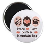 Peace Love Bernese Mountain Dog Magnet