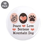 Peace Love Bernese Mountain Dog 3.5
