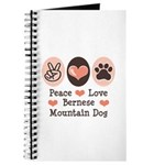 Peace Love Bernese Mountain Dog Journal