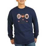 Peace Love Bernese Mountain Dog Long Sleeve Dark T
