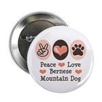 Peace Love Bernese Mountain Dog 2.25
