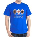 Peace Love Bernese Mountain Dog Dark T-Shirt