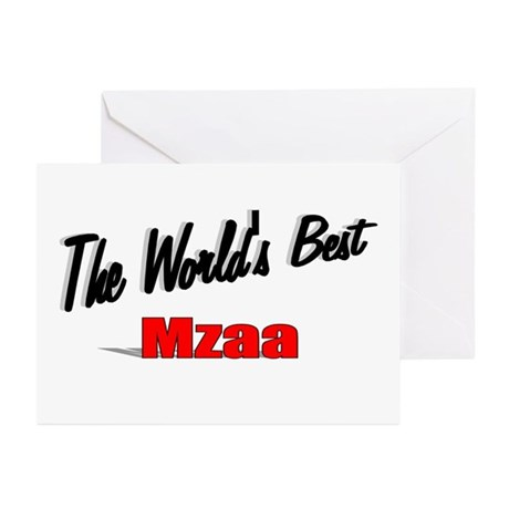 &quot;The World's Best Mzaa&quot; Greeting Cards (Pk of 20)