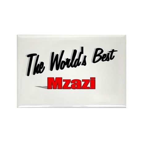 """The World's Best Mzazi"" Rectangle Magnet"