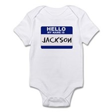 Hello My Name Is Jackson - Infant Creeper