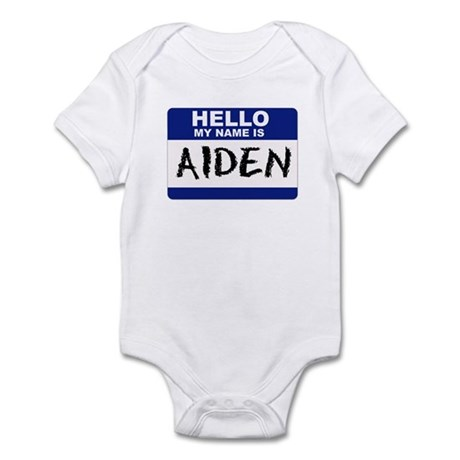 Hello My Name Is Aiden - Infant Creeper