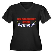 Retired Law Enforcement Officer Women's Plus Size