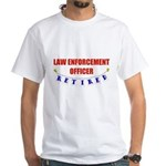 Retired Law Enforcement Officer White T-Shirt