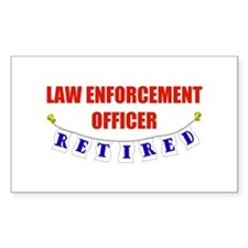 Retired Law Enforcement Officer Sticker (Rectangul